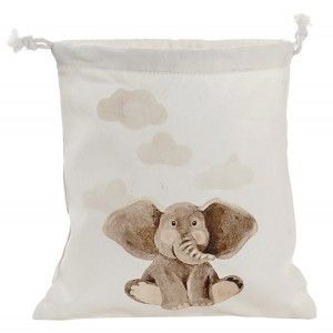 Bags Canvas Ropes Cotton with Design of Elephant, Bags of Cords for Women 24X2X26cm - Home and More