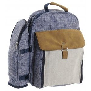 Backpack Picnic for 2 People, Cooler Bag and Holder Bottle. Game of Ware Laptop with 12 Accessories Picnic 38X23X45 cm
