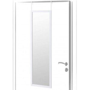 Espejo para Puerta Moderno, color Blanco de PVC, para Dormitorio, sin Agujeros - Hogar y Más