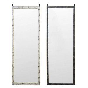 Espejo de Puerta colgante para Dormitorio, Diseño de Mármol. Espejos Originales Puerta PVC