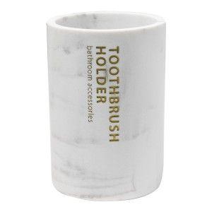 Vaso Baño Cepillo de Dientes de Resina, Accesorios para Cuarto de Baño. Vaso Mármol Cepillo Dientes 11x7,5 cm