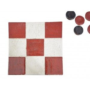 3 in a row of Natural Ceramic, 3 in Stripe Decorative Handmade 100% Hand Games, Skill/Education, 6piezas, 16,5x16,5x2cm