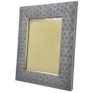 Marco de Fotos de Metal y Cristal 15x20 cm, Porta fotos metálico. Marcos de Fotos Arabesco 29x2x24cm - Hogar y Más