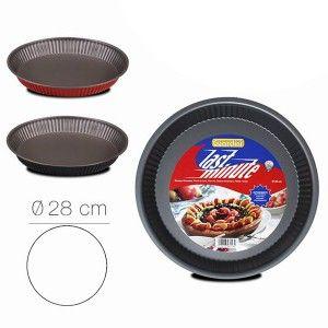 Molde Tarta para Horno, Moldes para Tartas Antiadherentes, Molde Circular Rizado, 4x28cm