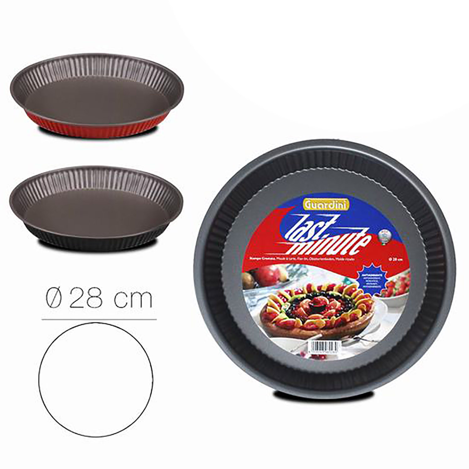 Mold Cake baking, Moulds for Cakes non-Stick, Cast Circular Ripple, 4x28cm
