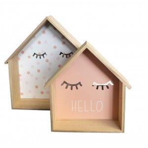 Wooden shelf Children's Decoration in Set of 2. Shelf Decorative Home for Children 34.5x30x10 cm