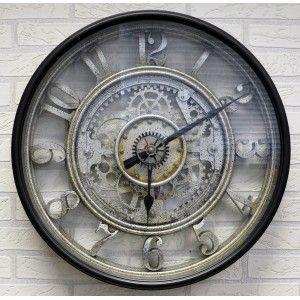 Reloj Pared Engranajes 3D Grande, Relojes Decorativos Estilo Vintage ø 51cm