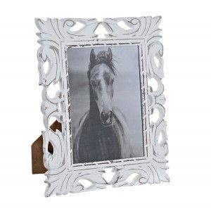Frame Photos Glass MDF White 23,5x1,5x28 cm15X20 cm