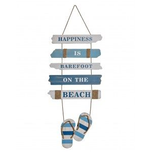 Decoration Wall design Sailor Blue rope with MDF 37x1,5x100 cm