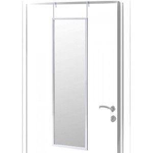 Espejo para Puerta Moderno, Color Plata, Acabado Brillo de PVC, para Dormitorio, sin Agujeros 36x110cm - Hogar y Más