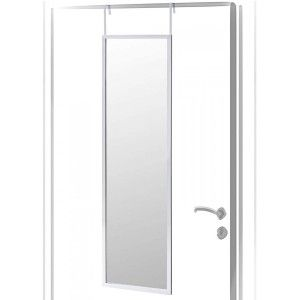 Mirror for Door-Modern, Silver Color, shiny Finish PVC, for Bedroom, with no Holes 36x110cm - Home and More