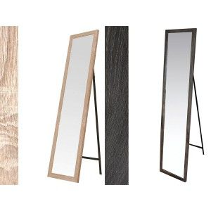 Standing mirror in Wood, Color Natural, Finish Natural, for Bedroom, Easy to assemble 30x150cm - Home and More