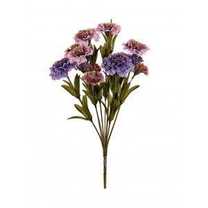 Ramo de Flores Lila Artificial de Poliester PVC 20x20x33 cm