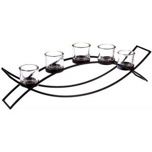 Candle holder Metal Decoration, Candle holder Modern, Black, for 5 Candles, Carrying Black Candles, Interior Decoration,