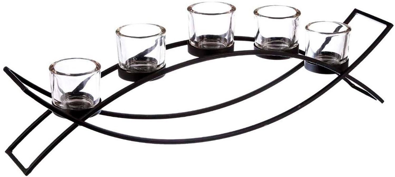 Candle holder Metal Decoration, Candle holder Modern, Black, for 5 Candles, Carrying Black Candles, Interior Decoration,