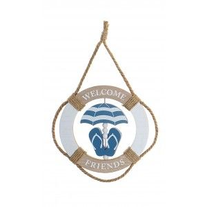 Decoration Wall Design Sailor Blue rope with MDF 20x2x32 cm