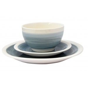 Ceramic dishes Effect Watercolor by Individual Pieces in Blue color.
