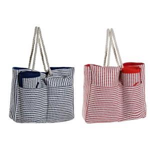 Bag of Mediterranean Beach Mat and Cushion 44x12x54 cm