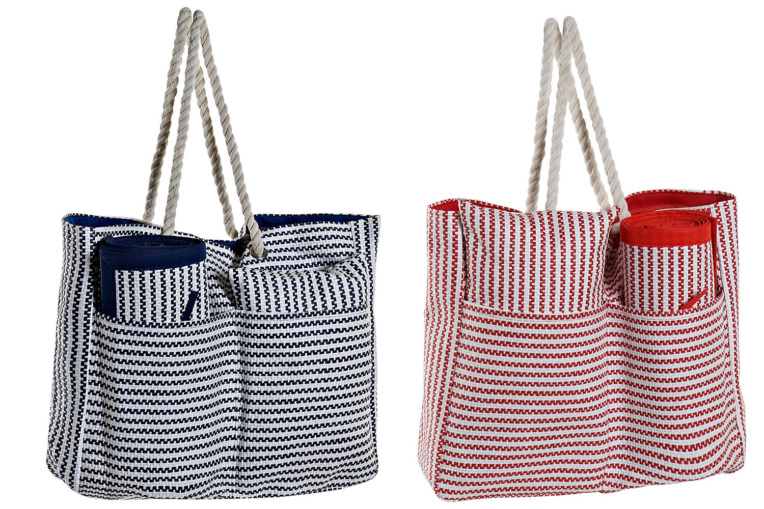 Bag of Mediterranean Beach Mat and Cushion 44x12x54 cm