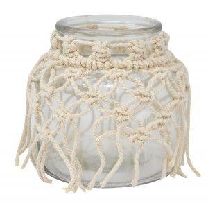 Vase Glass Decorative Fringes, Ethnic Decoration Vases Decorative Glass 13X13X12 cm