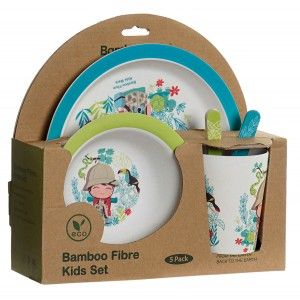 Ware Infant of Bamboo, with a Design of Explorer, Set of 5 Products 26x24x7 cm