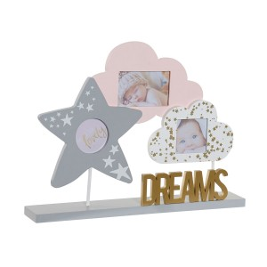 Framework Multifotos with Design Child of the Clouds and Star, Wooden MDF 32x5x24 cm