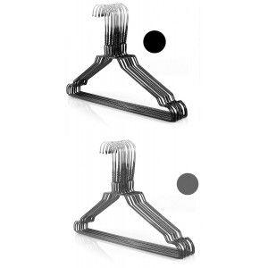 Perchas de Metal Ropa x20, Set de 20 Perchas Resistentes con Muesca para Colgar Ropa en 40,5 cm