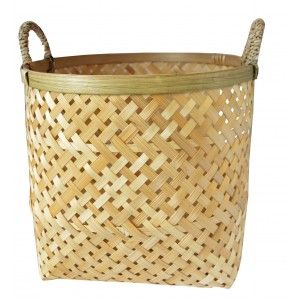 Wicker baskets Decorative Baskets Storage with Handles. Decor of Wicker, Natural Style in 3 Sizes.