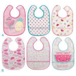 Babero para Bebé de colores, Set de Baberos para Bebé de Algodón 224x34 cm