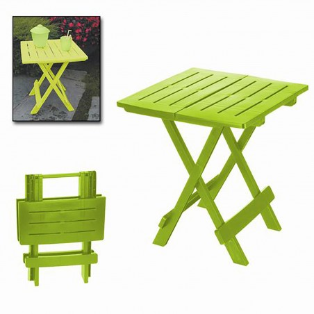 """Folding table """"ADIGE"""" Lime Green, side Table Folding. Table for Garden or Camping, 43x45x50cm - Home and More"""