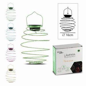 Solar lamp for Outdoor, Decoration Garden, Solar Lamp LED Spiral Pendant, Lamp 16cm