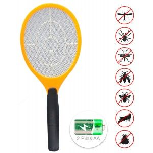 Racket fly Swatter Electric, Electric Racket, with Batteries, Racket ABS for Mosquitoes. 17x46x3cm
