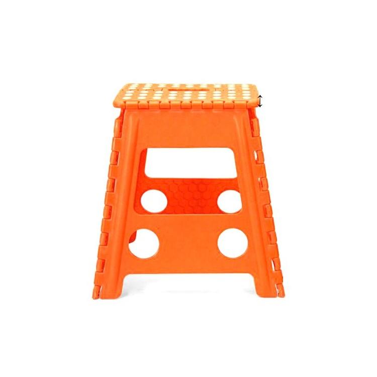 Taburete plegable naranja Hogar Y Mas