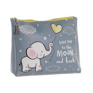 Neceser de Viaje Infantil con Diseño de Elefante y Frase 25X8X20 cm