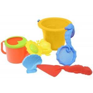 Juguetes Playa para Niños en Cubo, Cubo con Accesorios para Playa Coloridos, Juegos de Playa Originales