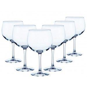 Copa Cristal Transparente para Combinados o Cócteles 70 Cl, Vajilla/Menaje de Hogar, Set de 6. Diseño Elegante y Práctico.