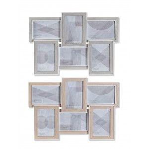 Photo frame Multi Wall, Wood, color Natural, Size varied. Elegant design/Modern 32x3x32cm - Home and More