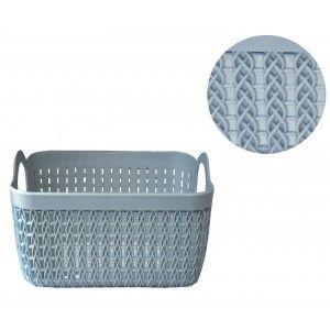 Basket Storage Rectangular Plastic Storage Boxes without Lid 3 colors. Basket Braided 24x16,5x12,3 cm