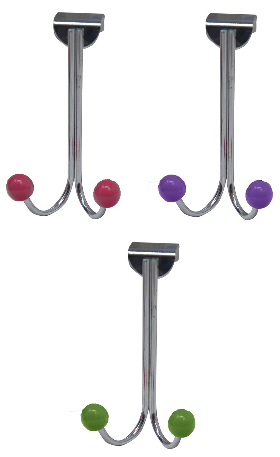 Hall-Door with Two Hooks, Hanger Cloths, Kitchen, 3 Colors