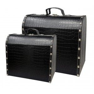 Suitcase Decorative Black living Room, Decor Vintage Storage 2 sizes