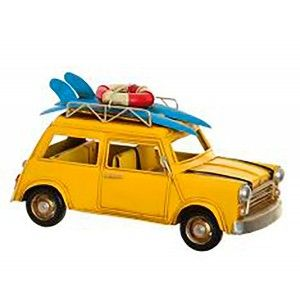 Figure Decorative Metal, Car Surfer Vintage, 4 Models 25,5X13X3