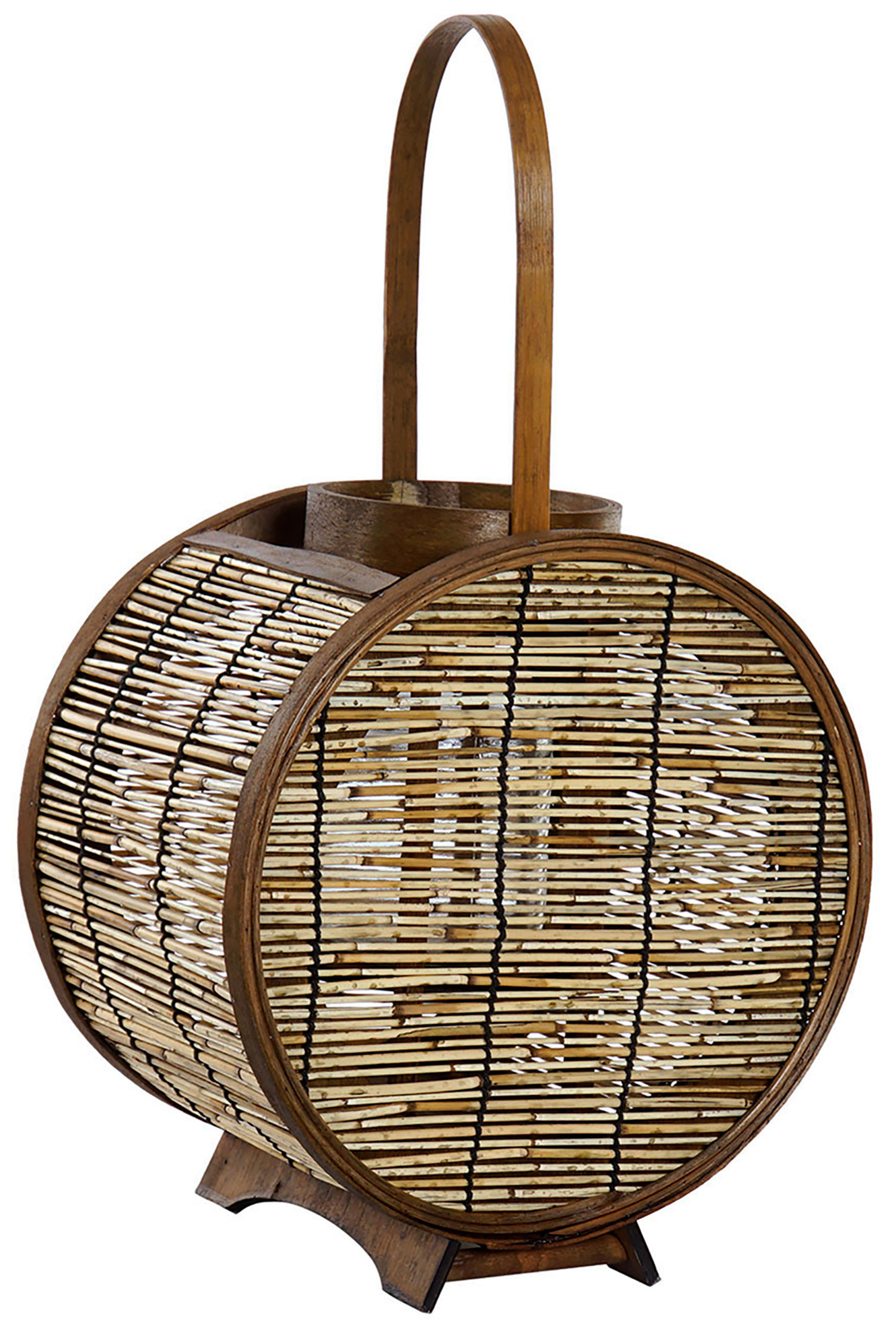 Lantern candle Holders Decorative Bamboo and Glass, Natural color. 2 different Sizes.