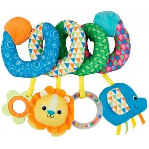 Rattle Baby Spiral Carriage/Crib with stuffed Animals, Children's Toys, Newborn