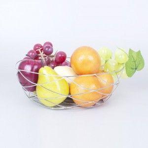Fruit dish metal chrome