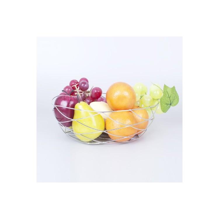 Frutero original de acero cromado.
