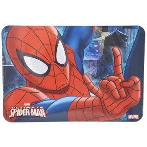 Mantel Individual Infantil Marvel, Juego de dos Manteles Spiderman, para los más pequeños, 43x29,5cm