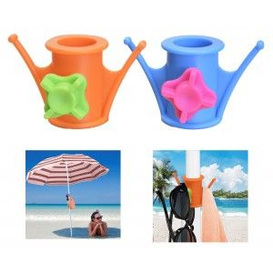 Hanger Umbrella Two Units of Two Colors PVC Home and More