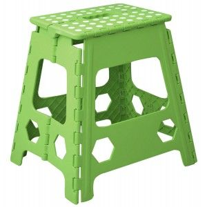 Folding stool Robust PVC Green