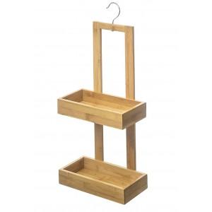 Shelving, Hanging Bathroom Shelf Bamboo for Storage. Shower organizer 26x14x61 cm