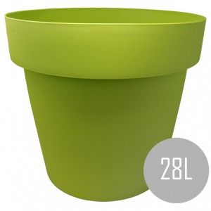 Pots, Int/Ext. Large PVC, Green 28L, Hydro-irrigation, 40x40x34cm